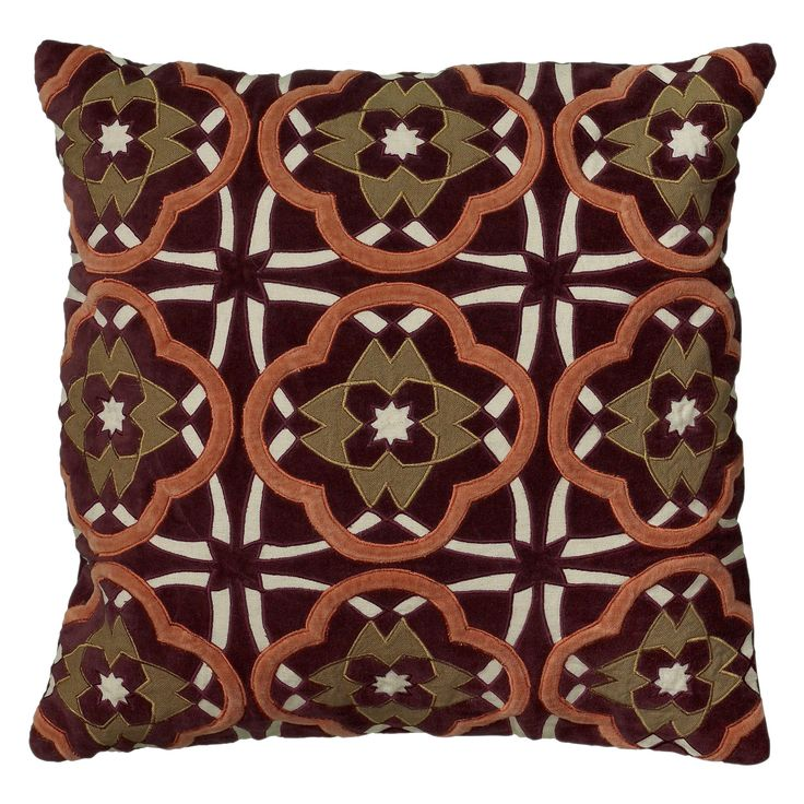 Rizzy Home 18 Inch Bird's Eye Throw Pillow