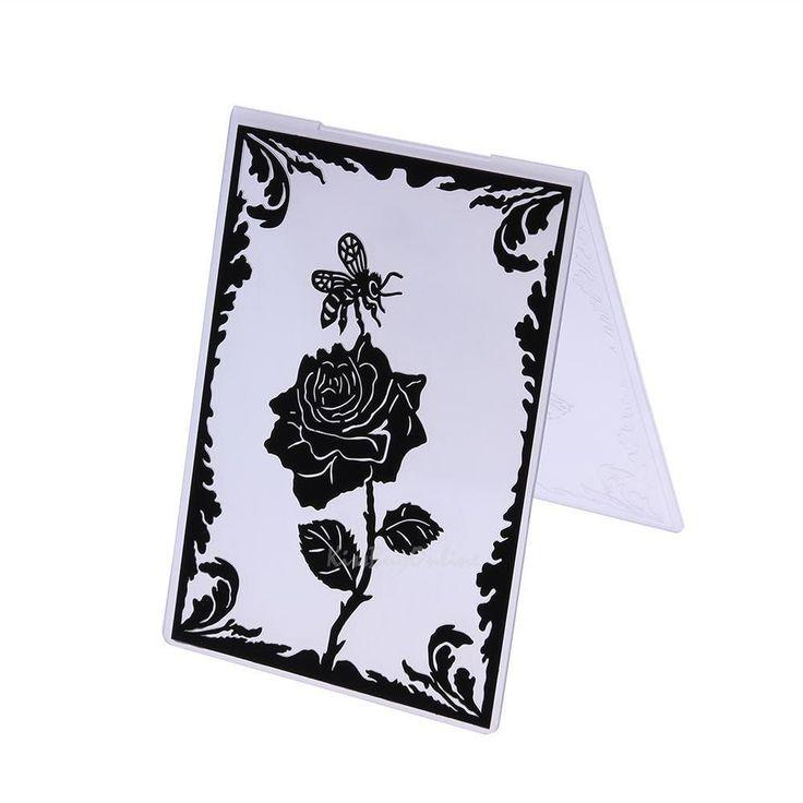 Rose Plastic Embossing Folder Template DIY Scrapbooking Paper Craft Card Decor