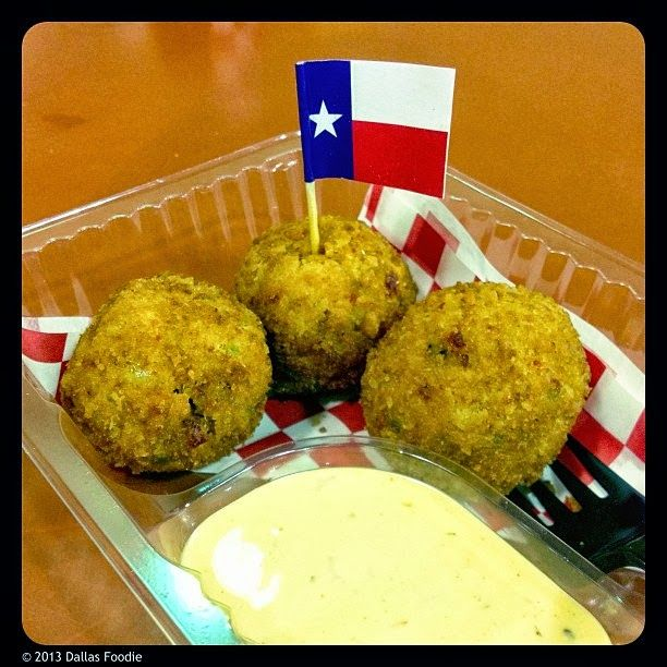 Texas Fried Fireballs    *Pimento cheese, pickles, cayenne, and bacon, are rolled into a ball, dipped in buttermilk, covered in jalapeño-infused batter, then deep fried. Served with chipotle ranch... State Fair