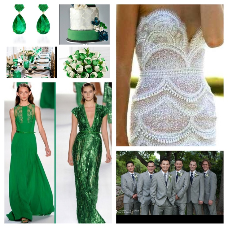 Wedding Theme White And Green: Emerald Green Wedding Theme
