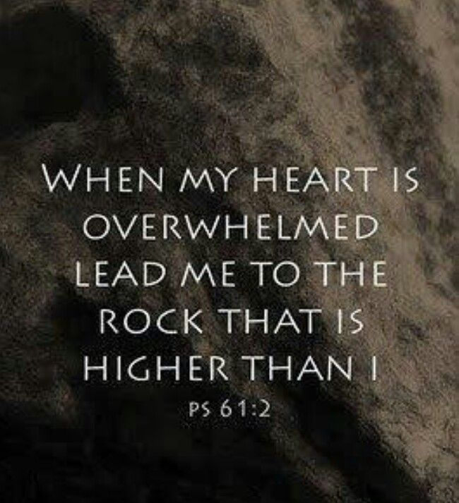 "From the ends of the earth, I cry to you for help when my heart is overwhelmed. Lead me to the towering rock of safety... (Psalm 61:2). Take my yoke upon you. Let me teach you, because I am humble and gentle at heart, and you will find rest for your souls. For my yoke is easy to bear, and the burden I give you is light"" (Matthew 11:29-30).  Surrender your heavy load to the only One who is able to carry it, Jesus Christ.  NOTHING can separate us from His love!"