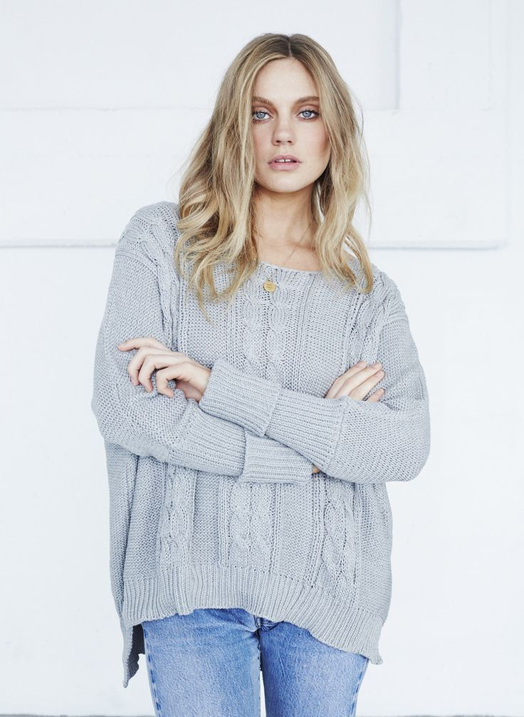Faithfull The Brand - Charlotte Cable Knit - Light Grey
