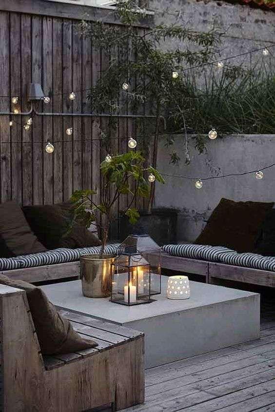 Come decorare un giardino moderno - Zona relax in giardino