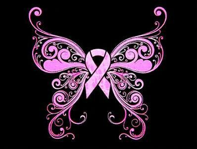 Breast cancer awareness butterfly