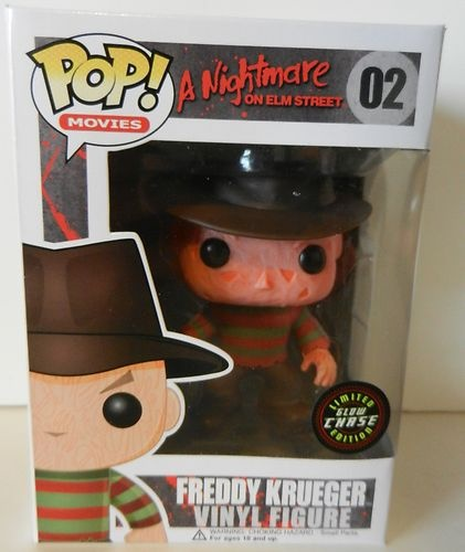 Pop Movies Freddy Krueger Limited Glow Chase Edition Vinyl