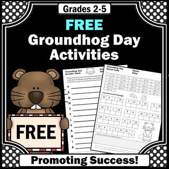 These free Groundhog Day worksheets are a sampler from our much larger packet found here:Groundhog Day No Prep PacketYou will receive an acrostic poem writing activity plus a grading rubric. You will also receive a secret code worksheet and answer key.