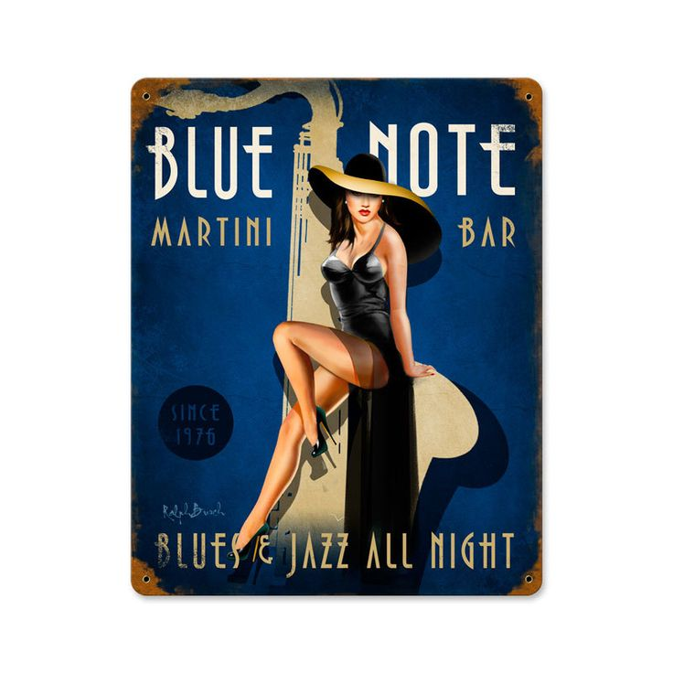 Blue Note Jazz Club Vintage Metal Sign 12 x 15 Inches, $49.97 (http://www.jackandfriends.com/blue-note-jazz-club-vintage-metal-sign-12-x-15-inches/)