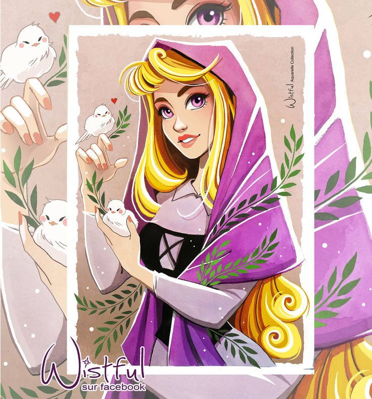 A new watercolor in my collection, Princess Aurora. I loved painting it and I hope you like it ❤️ #s - wistful.art