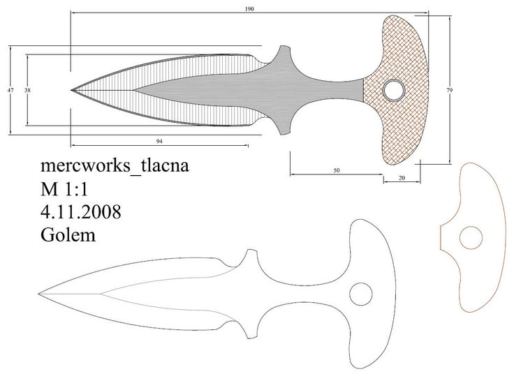 O Cuteleiro: Moldes em PDF - Parte 2 Facas e cutelaria