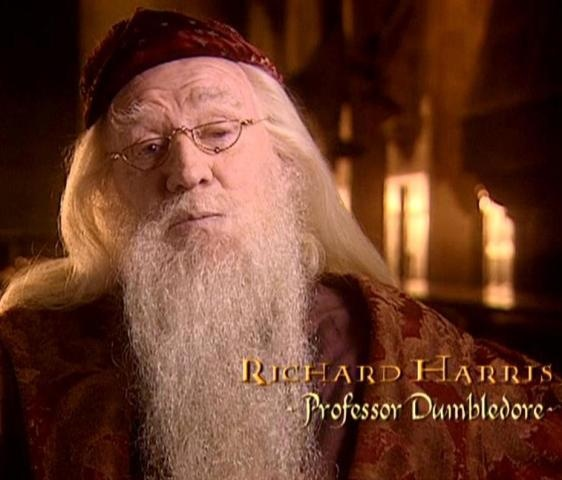 Richard Harris-the original and in my opinion the only true Dumbledore of the Harry Potter movies ( 1 & 2). RIP :(