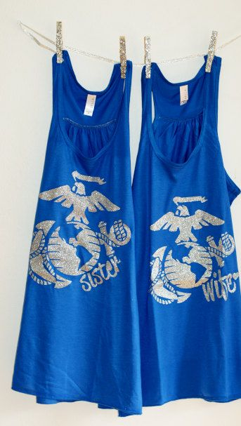 The Few The Proud The Wife Women's USMC Glitter by TapRackBang, $28.99