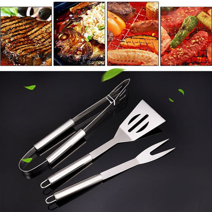 1Set Portable Barbecue Grill For Outdoor Stainless Steel BBQ Grill Tool Accessories Fork+Tong+Spatula BBQ Cooking Tools at http://stores.howgetrid.net/?products=1set-portable-barbecue-grill-for-outdoor-stainless-steel-bbq-grill-tool-accessories-forktongsp