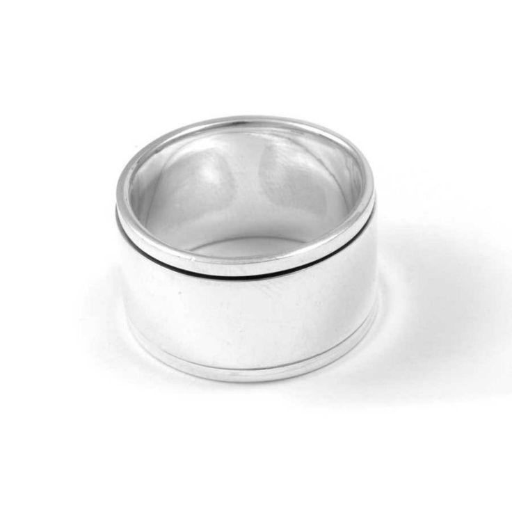 bague anneau argent anti stress large bague homme nos bijoux our jewelry pinterest. Black Bedroom Furniture Sets. Home Design Ideas