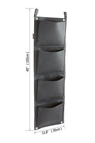 Garden-Planter-Vertical-Wall-4-Pockets-Wall-Mount-Planter-Solution-Decor-NEW
