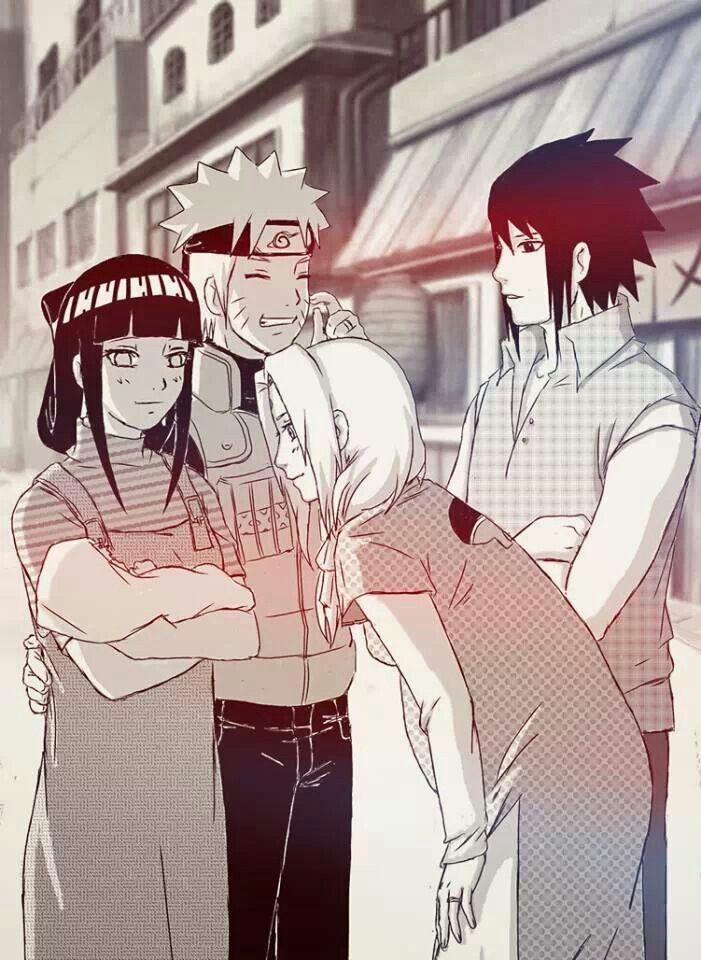 Maybe this will happen some day in the future Naruto Hinata Sakura Sasuke
