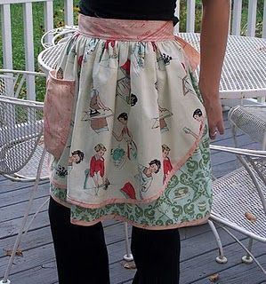 Apron Tutorial: love the fabric