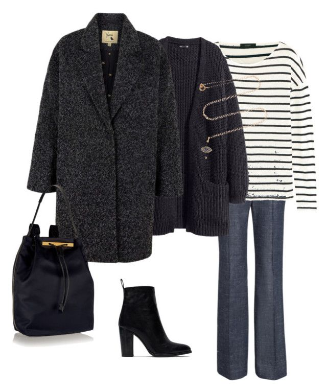 """""""THURSDAY'S OUTFIT"""" by maellog on Polyvore featuring J.Crew, H&M, Lipsy, Zara, The Row, IaM by Ileana Makri, women's clothing, women, female and woman"""