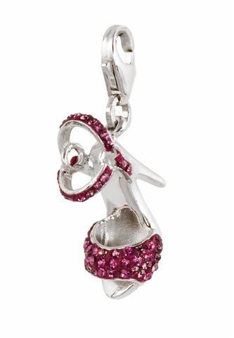 Amore & Baci silver charm - pink high heel sandal