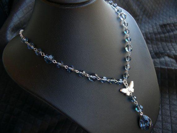 Collana in cristallo Swarovski denim blue di SognantiStelleBijoux