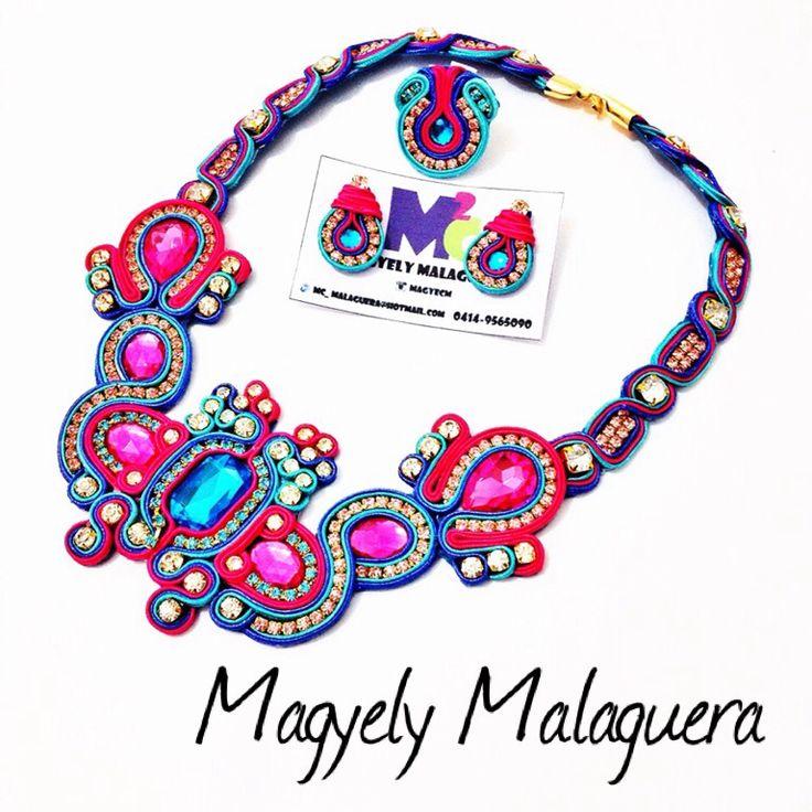 •••Ensueños••• Colorfull Necklaces SOUTACHE From M2C Accesorios Venezuela... Envíos internacionales y nacionales...  +584149565090