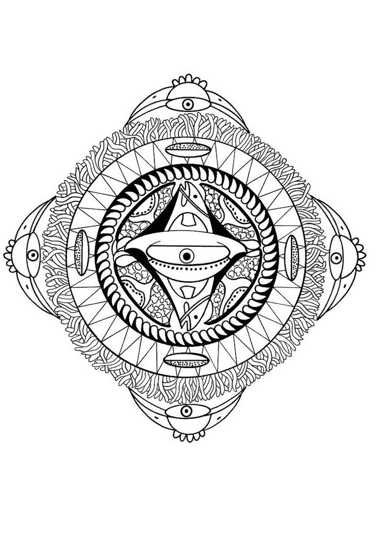 48 best images about Mandala coloring pages on Pinterest