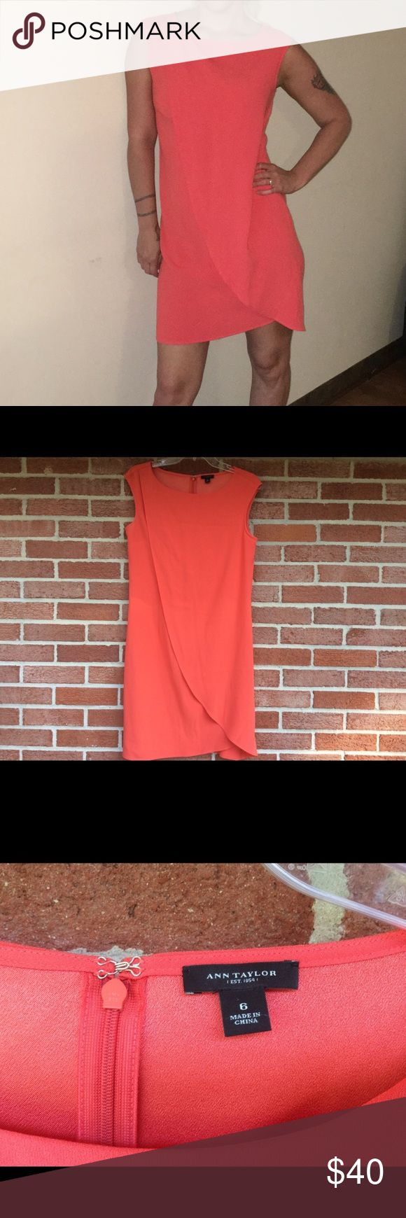 Gorgeous dress by Ann Taylor size 6 Really flattering dress by Ann Taylor size 6 orange perfect for any occasion Ann Taylor Dresses Mini