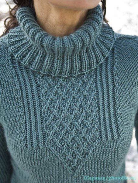 СВИТЕР<br>#спицы #вязаный_пуловер