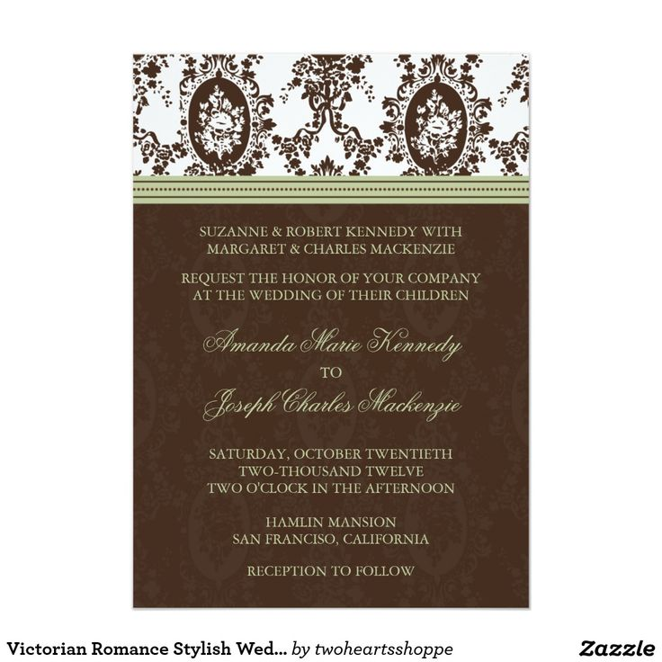 857 best VICTORIAN WEDDING Invitations images on Pinterest