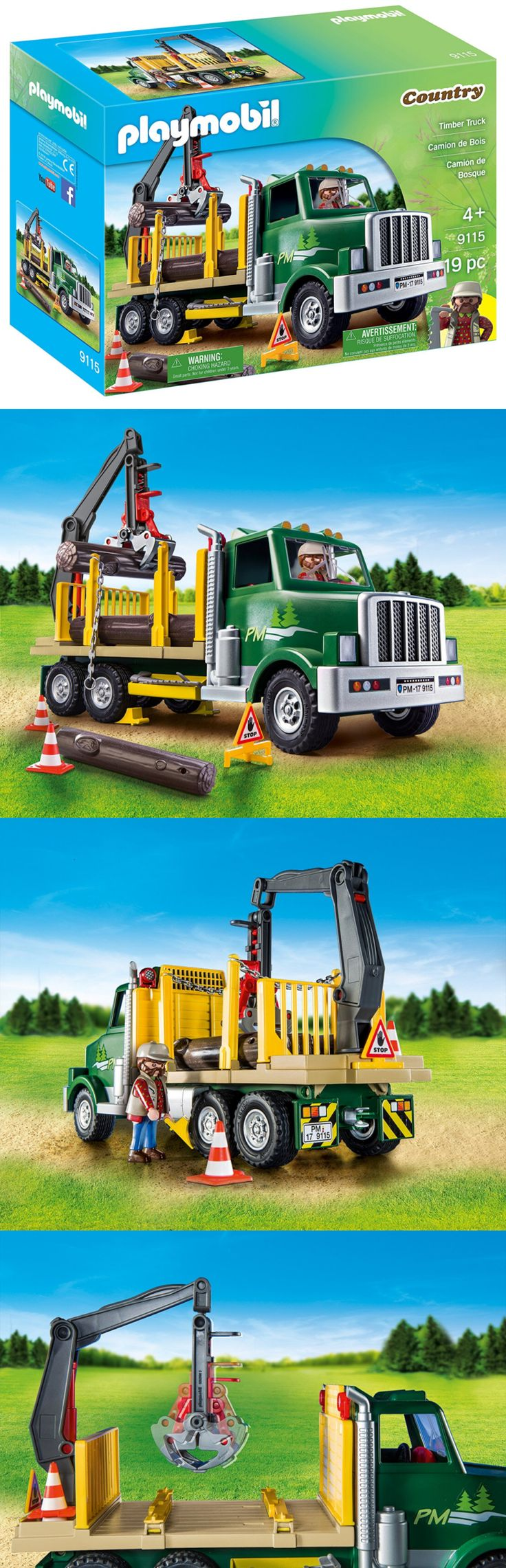 Playmobil 19854: Playmobil Timber Truck Figure Toy Set Crane Play Fun Loading Logs Vehicle Kids -> BUY IT NOW ONLY: $33.35 on eBay!