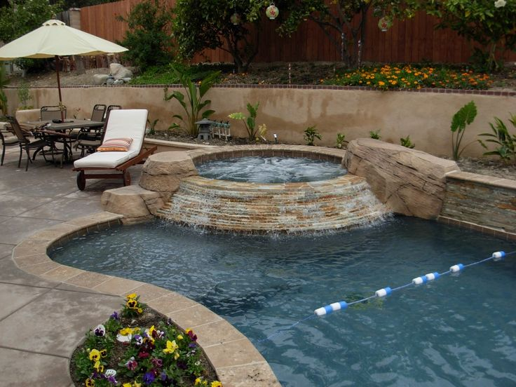 Inground Spas With Stack Stone : Best images about pools on pinterest outdoor gas fire