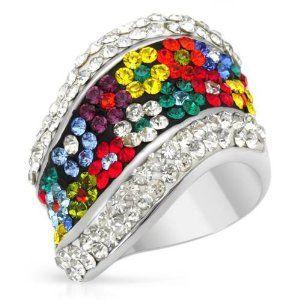 Sterling Silver Crystal Cocktail Women Ring. Ring Size 7. Total Item weight 10.5 g. VividGemz. $45.00