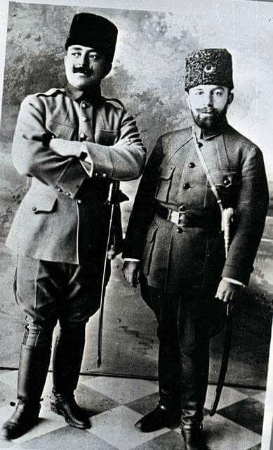 Cemal Paşa ile Von Frankenburg.