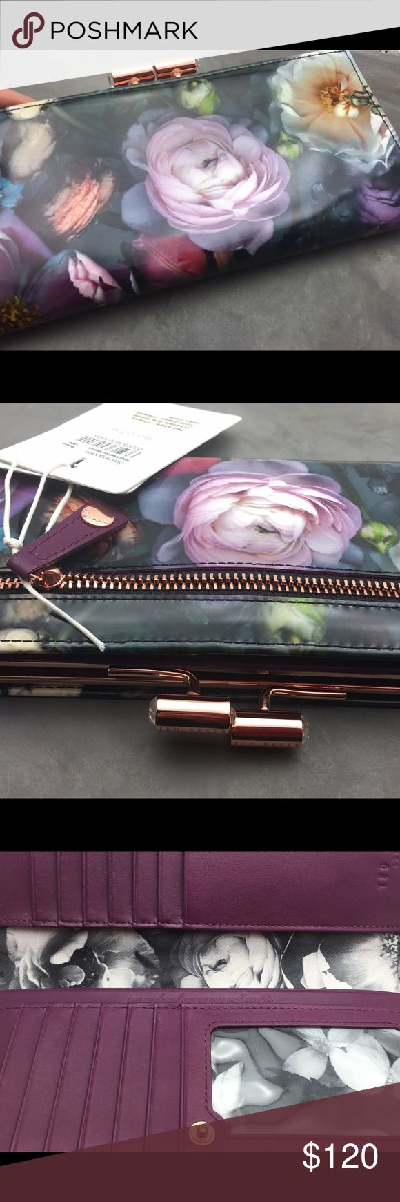 Flash sale Ted Baker floral wallet Hard to find, a most stunning floral wallet by Tad Baker. I usually need  big wallets and I find these Ted Baker's wall yes to be prefect for my needs. They contain a lot and look amazing. Feel so luxurious and pretty you will be in love in seconds. I highly recommend trying this one by TB. New with Tag, never used. Ted Baker Bags Wallets