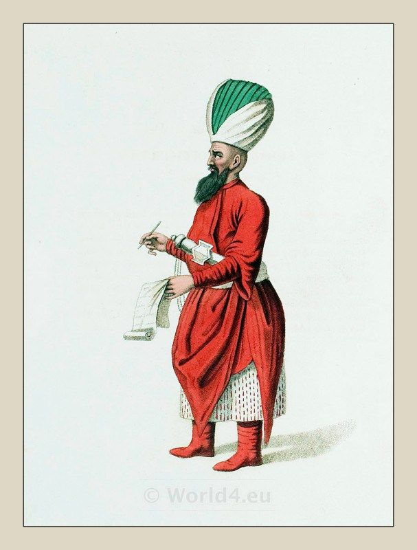 Ottoman empire historical clothing. Caftan. Traditional Turkish mens dress, turban. امپراتوری عثمانی, османская империя, Turkish Military