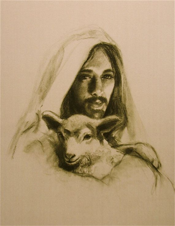 The Good Shepherd by ChristianArtPainting on Etsy, $20.00