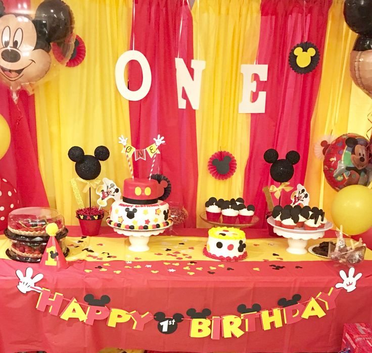 Manny's Mickey Mouse birthday theme Mickey Mouse birthday theme