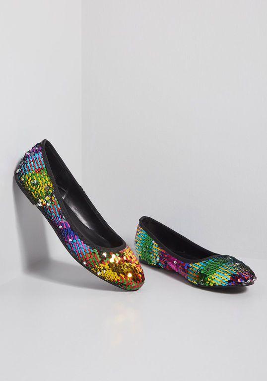 e7f17baea9ba Dazzling Duality Sequin Flat | MODA♀ | Flats, Sequin shoes, Sequins