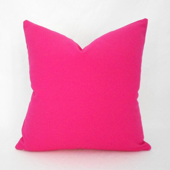 Hot Pink Pillow Covers ANY SIZE Decorative by MyPillowStudio