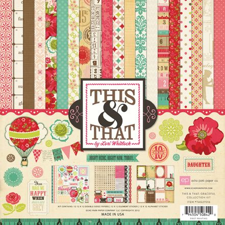 This & That Graceful by Echo Park. Check out the accent papers, brads and chipboard accents.