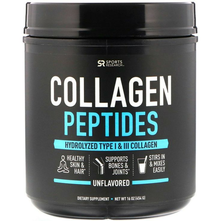 Sports Research Collagen Peptides Unflavored, 16 oz