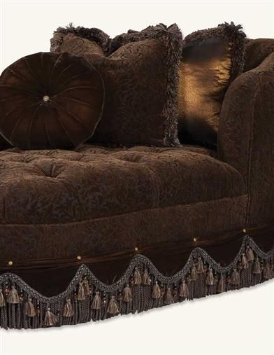 Superior DARK CHOCOLATE VELVET CHAISE, VICTORIAN TRADING CO.