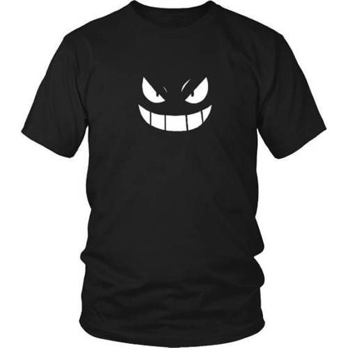 Gengar Face Pokemon Cartoon Funny Men Women Vest Tank Top Unisex T Shirt 1903