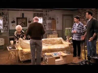 Image result for everybody loves raymond plastic couch cover