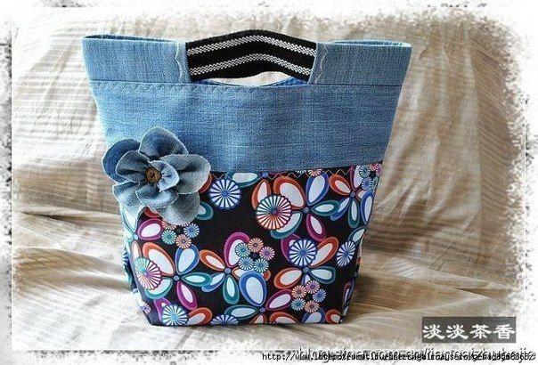 Идеи для вдохновения. Сумочки из старой джинсовой одежды. / Рукоделие