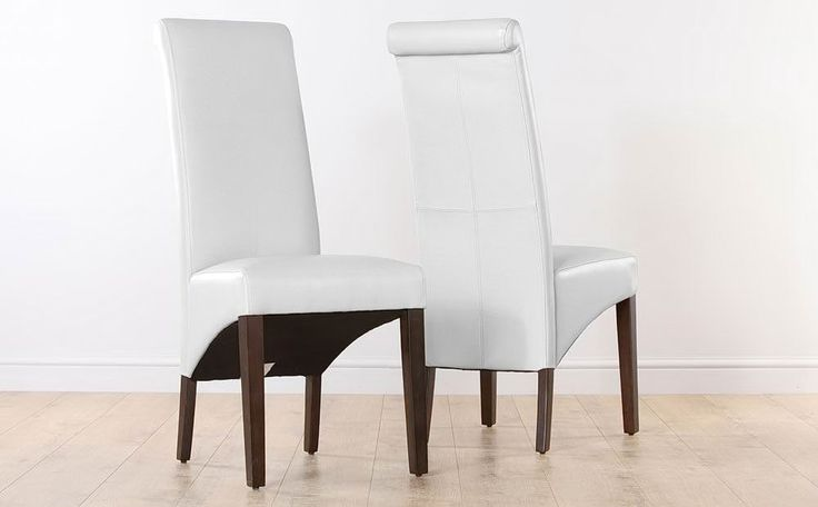 9 best dining room images on pinterest dining room for White leather high back dining chairs