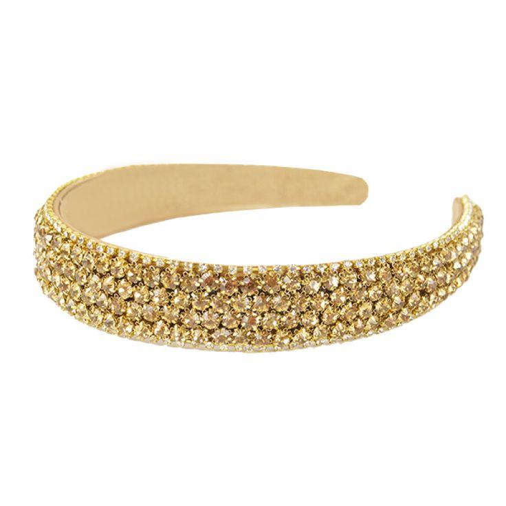 2.5cm Crystal Headband - Gold  #gabianona #hairfashion #happyhead