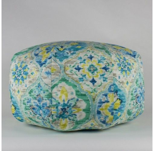 Carrbean Blue Ottoman - $49. Handmade in Noosa, these Plump Cushions come in a variety of colours and patterns to compliment any decor.