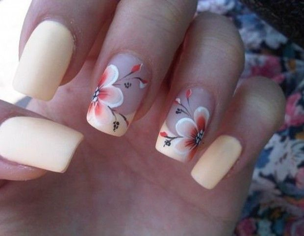 Favori Oltre 25 idee di tendenza per Unghie con fiori su Pinterest  IL57