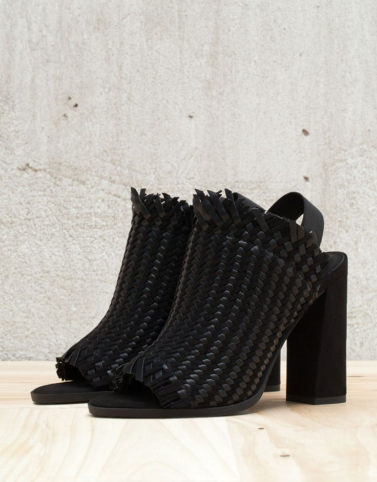 Braided heeled sandals. Discover this and many more items in Bershka with new products every week