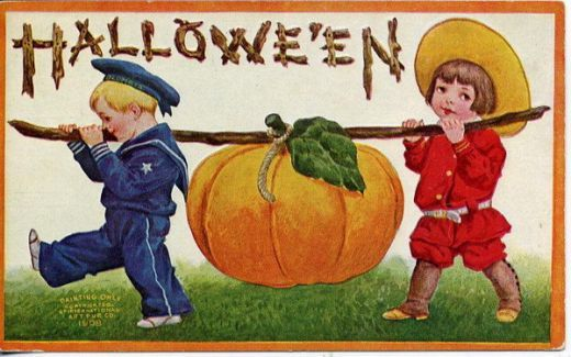 These free vintage Halloween postcards can be used for invitations and scrapbooking, as kids Halloween cards and for a variety of other purposes.